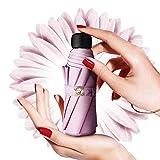 Parapluie Pliant, Design Compact Léger, Portable de Voyage et Résistant au Vent Parapluie Mini Original Femme (Rose)