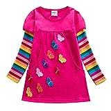 JenK Cing Halloween Kleider für Baby Mädchen Prinzessin Kinder Langarm Spleißen Zeichentrickfilme...