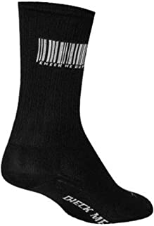 SockGuy, SGX Barcode, Performance Sock, Sporty and Stylish, 6 Inches - Large/X Large