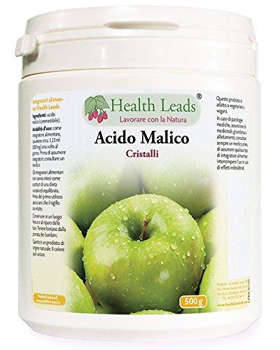 Acido Malico Cristalli 500 g (Nessun additivo nocivo)