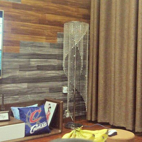 Surpars House Raindrop Crystal Floor Lamp Chrome Finish