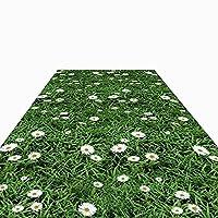 """廊下敷きカーペット 牧歌的な花の短いパイルの廊下のカーペットマット、 ランドリーキッチンリビングルームハードフロア洗えるランナーラグ、 23.6""""/ 31.5"""" / 35.4""""/ 39.4"""" / 47.2""""/55.1""""幅オプション (Color : Style 1, Size : W140cm x L400cm)"""