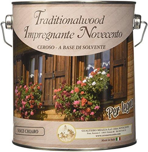 Cera Novecento 9088 Traditionalwood Impregnante, Noce Chiaro, 2.5 Litri