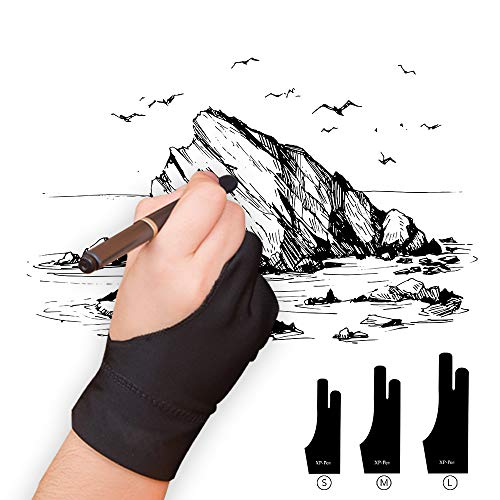 XP-PEN Elastisch Lycra Antifouling Handschuh für Grafiktablett/Pen Display/Leuchtkasten (Geeignet für rechts und Links) (S)