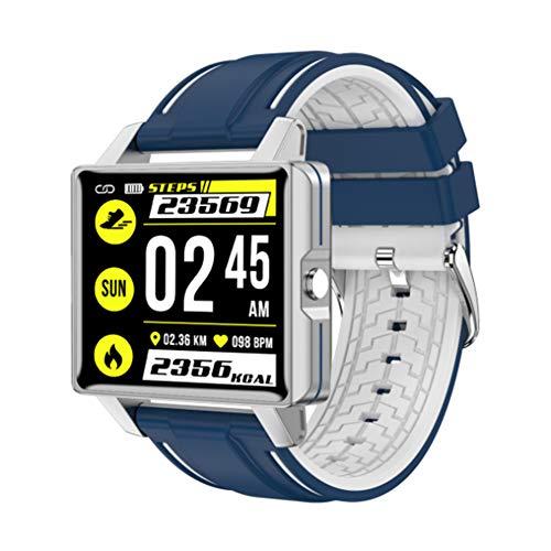 Intelligentes Armband, Farbbildschirm Vollschrift Übungsaufzeichnungsmodus Schlafinformationsuhr,Blue and white