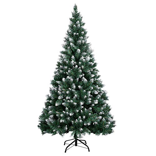 LOKASS Artificial Christmas Tree 6 Feet Christmas Pine Tree with Metal Stand for Christmas Decoration, Easy Assembly