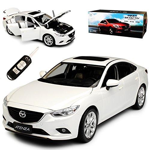 Paudi Mazda 6 Atenza Limousine Weiss Typ GJ GL 3. Generation Ab 2012 1/18 Modell Auto