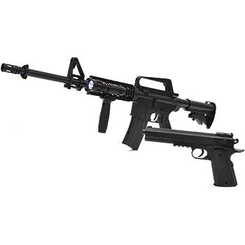 ベルソス(VERSOS) VERSOS エアーガンセット Colt1911モデル & M4 R.I.Sモデル [ VS-C-M4 ] / M4モデル コルトモデル エアーガンキット エアガン サバイバルゲーム サバゲー アウトドア ブラック