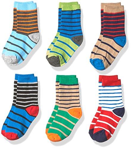 of carters socks dec 2021 theres one clear winner Jefferies Socks Boys' Little Stripe Cotton Crew Socks 6 Pair Pack