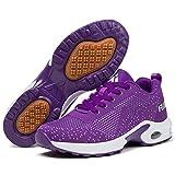 Mishansha Mujer Zapatos de Deportes Niña Zapatillas de Golf Correr Femenino Respirable Jogging Casual Air Sneakers Fitness Morado/Clásico 35