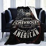Chevy More American Ultra-Soft Micro Fleece Blanket Throw Super Soft Blanket 80'X60'