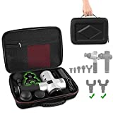 Carry Case for Hyperice Hypervolt with 5 Attachment Slots Fit 2020 Hypervolt and Hypervolt Plus Percussion Massage Gun Device Hard Shell Shockproof Lightweight Portable StorageBag(Case Only)