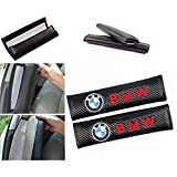 Wall Stickz car Sales 2 Pcs Car Seat Belts Covers Padding Carbon Fiber Leather Belt Shoulder Sleeve (fit BMW)