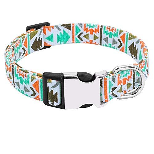 LHKMGH Collar De Perro, Collares De Perrito De Perrito Impreso De Nylon Addutables para Pequeños Perros Medianos,34~57cm