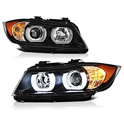 VIPMOTOZ For 2006-2008 BMW E90 3 Series Sedan Wagon [Halogen Model] Headlights, Driver & Passenger Side