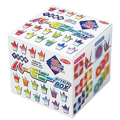 Showa Grimm Harmony Boxed Set, Origami Paper for 1000 Folded-Paper Crane (Zenbazuru), 1024 Sheets