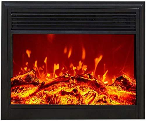 Chimenea eléctrica empotrada,estufa con calentador empotrado en la pared con leños,enchufe de...