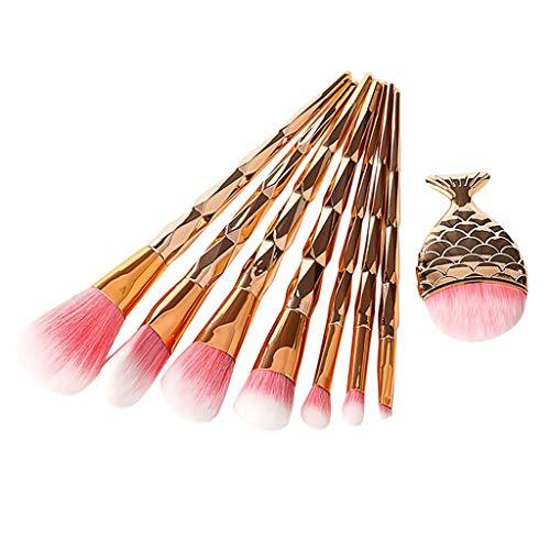 8Pcs Maquillage Fond De Teint Pinceau Sourcils Eyeliner Blush Cosmétique Anticernes Pinceau De Maquillage Queue De SirèNe jkhhi