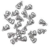 Hellery 20pcs Bulk in Acciaio Inox Pendente Perline Sciolte Risultati Accessori di Alimentazione - Cucurbitacee
