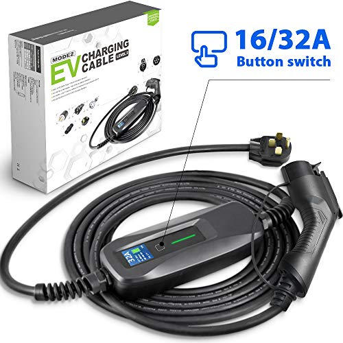 Morec EV Charger 16/32 Amp NEMA14-50 SAE J1772 ev Charging Cable Level 2 Portable Electric Vehicle Charger 220V-240V 26ft (7.9M), Compatible with Most Electric Vehicle Cars