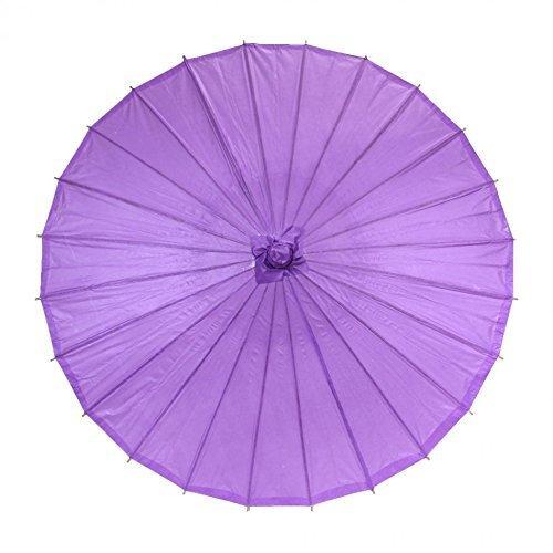 SROVFIDY Chinesischer Stil Bambus Umbrella Sonnenschirm Stick Umbrella Chinesische Antike Regenschirm (Purple)