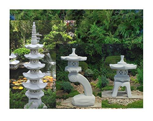 3 Stück. Pagode + Yukimi + Rankei S japanische Steinlaterne Garten Laterne