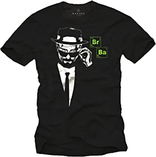 MAKAYA Camiseta Negra Hombre - BR Ba