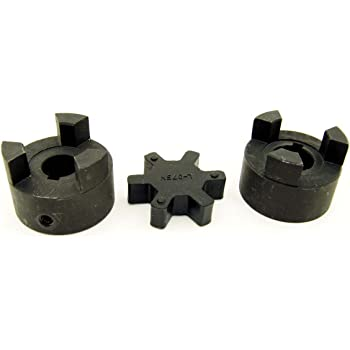 L100 5//8 X 1-1//8 Flexible 3-PC L-Jaw Coupling Set /& Buna-N NBR Rubber Spider