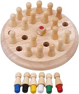 Juego de ajedrez palo de partido de memoria Madera Juguete Juego para ni/ños Partido Palo de Memoria de ajedrez