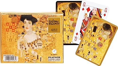 precios mas baratos Klimt  Adele and The Kiss Playing Playing Playing Cards, two decks by Piatnik by Piatnik  hasta un 65% de descuento