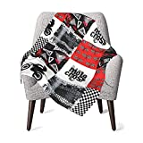 Dirt Bike Motocross Red Baby Blanket for Toddler Girls Boys Super Soft Thick Fleece Plush, Warm Fuffly Receiving Blanket for All Season - fits for Stroller Crib Nap, Newborns Gift, 30 x 40 Inch