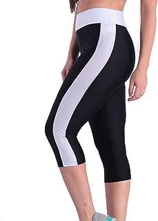 Women's Yoga High Waist Workout Capris Side Pockets Running Tummy Control Sports Leggings Trouser Pants