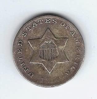 Shipodin 1851-1862 Silver Three Cent Piece G/VG