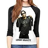 Photo de Femme Manches 3/4,Chemisiers et Blouses Femme Lenny Kravitz Female Slim 3/4 Sleeve Casual Fashion Round Neck Top T-Shirt Casual Novelty Outdoor Tees