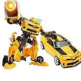 siyushop Transformar El Robot De La Acción De La Acción del Robot, Transformando El Robot del Hombre del Coche, El Robot De Rescate De Héroe, Niño (Amarillo)