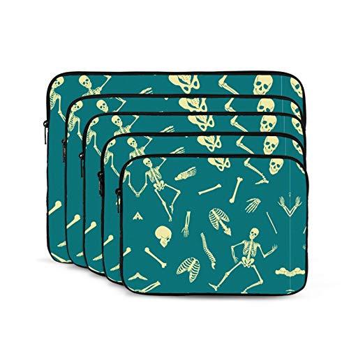 KUUDJIT Human Skeleton Blue 12/13/15/17 Inch Laptop Sleeve Bag for MacBook Air 13 15 MacBook Pro Portable Zipper Laptop Bag Tablet Bag,Diving Fabric,Waterproof