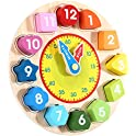 Montessori Learning Time Teaching Colorful Wooden Clock