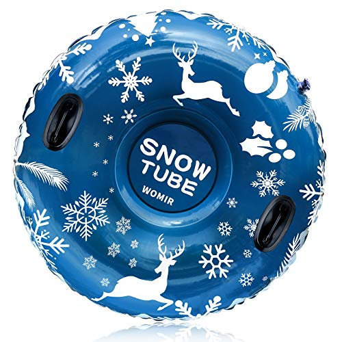 [2020 Newest] Snow Tube, Super Big 47 Inch Inflatable Snow Sled for Kids and Adults, Best Gift for Winter Sport Fun, Christmas Snow Tube, Heavy Duty Made by Thickening Material of 0.6mm