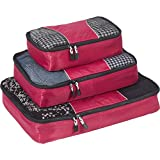eBags Classic Packing Cubes for Travel - 3pc Set - (Raspberry)