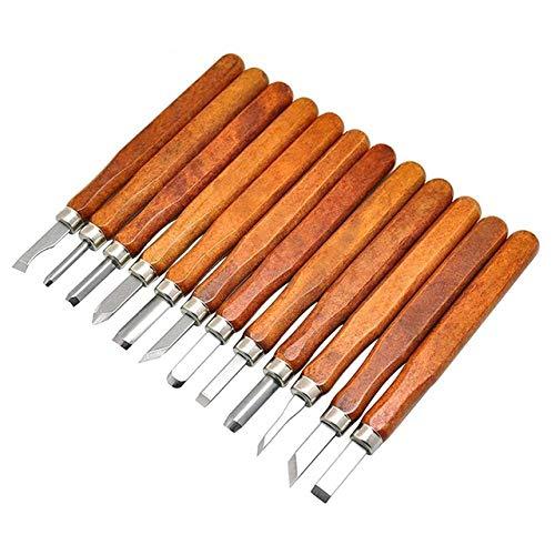 12 Unids Woodcut Hand Cutter Carpenter Knife Set Carving Wood Chisel Sharpener Carpintería Carpintería Herramientas de bricolaje con caja, como muestra