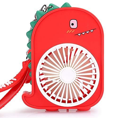 Goshyda Mini Ventilador de Mano, 1 a 2 Horas de Tiempo de Trabajo Regulación de Velocidad de 2 Modos Compatible con Varios Modos de Carga Ventilador USB portátil para Verano(Rojo)