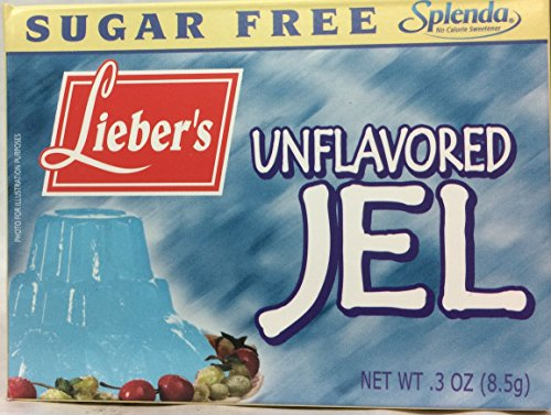 Lieber's Sugar Free Unflavored Jel Kosher For Passover 3 Oz. Pack Of 3.