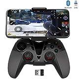 DELTA essentials Bluetooth/2.4G Manette PC PS3 avec Dualshock et Turbo, Call of Duty Mobile PUBG Mobile Manette pour PC Windows 7/8/8.1/10, PS3, Android