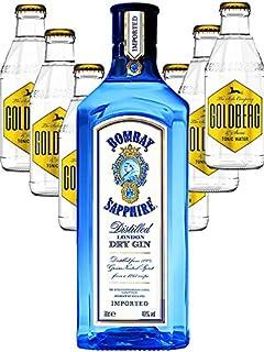 Bombay Sapphire Gin 0,7 Liter  6 x Goldberg Tonic Water 0,2 Liter