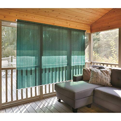 CASTLECREEK Sunscreen Roll-Up Window Shade, Hunter Green, 6X6'