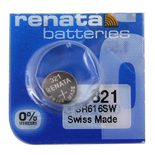 Renata 321sin mercurio SR616SW 1,55V óxido de plata pila de reloj