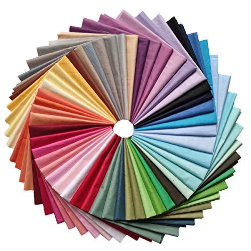 YXJDWEI 50 Stück Baumwollstoff Patchwork Stoffe DIY Gewebe Quadrate 100% Baumwolltuch Stoffpaket zum Nähen Mehrfarbig für Handarbeiten (20 x 20cm)