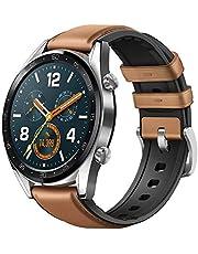 Huawei Watch GT Classic Smartwatch 3,53 cm (1,39 inch) Amoled touchscreen, GPS, fitness tracker, hartslagmeting, 5 ATM waterdicht