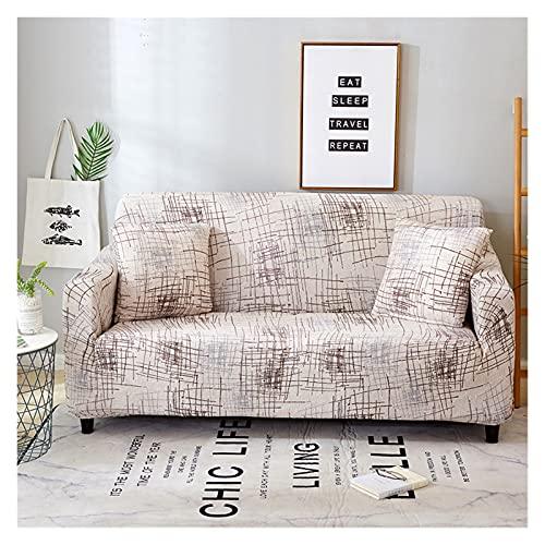 OYZK Cubierta de sofá Floral de Estiramiento, sofá elástica Cubiertas para Sala de Estar Sofá Funda Fundas Fundas Sofás con Chaise Longue 1pc (Color : 20, Specification : 1 Seat 90 140cm)
