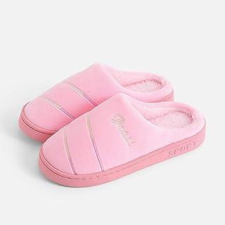 B/H Zapatillas de Estar en casa niña,Zapatillas de algodón para Interiores cálidas de Invierno para Damas, Zapatos de casa...